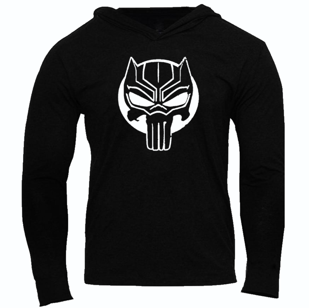 BLACK PANTHER/THE PUNISHER SLIM FIT PERFORMANCE WORKOUT SLIM PERFORMANCE HOODIE