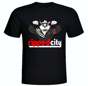 Ripped City T-Shirt Portland Trailblazers