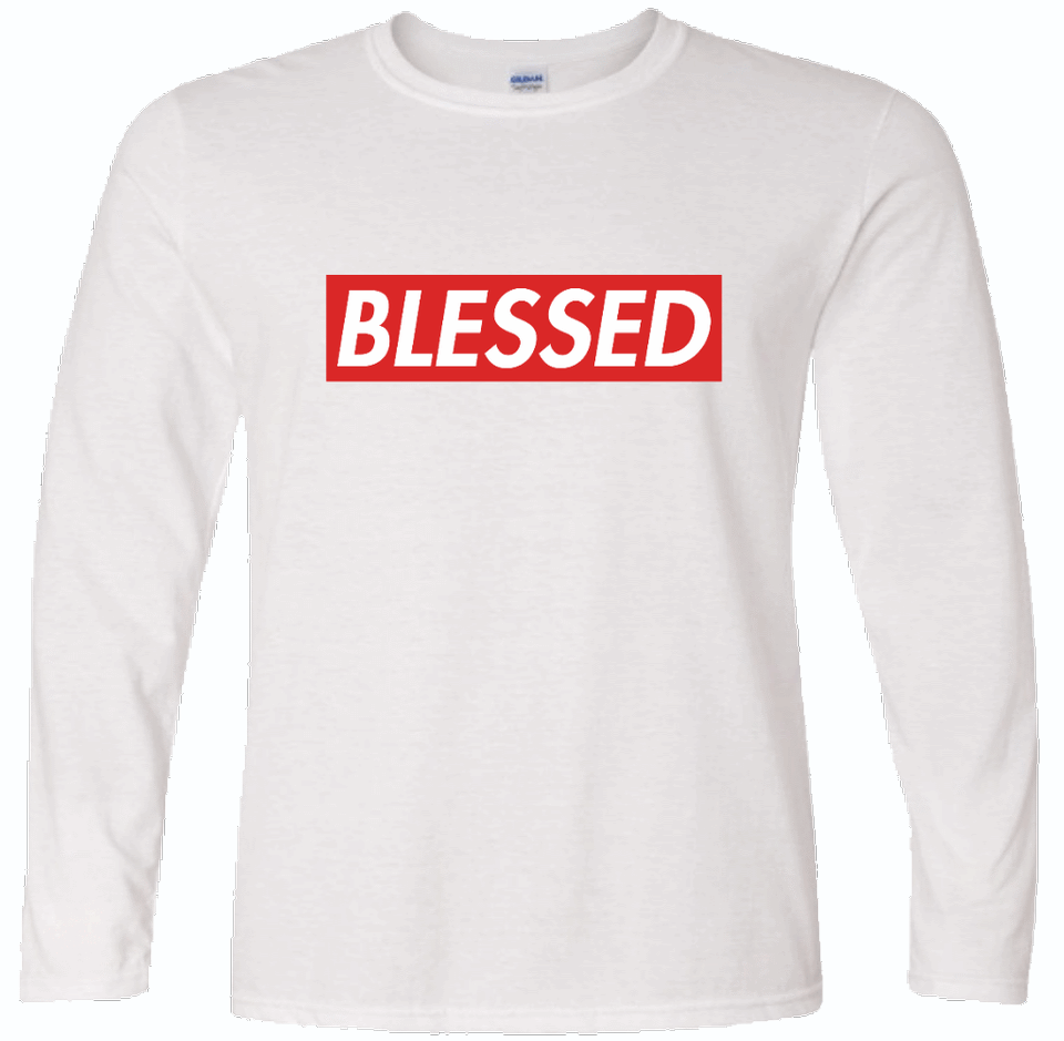 BLESSED Long Sleeve White Tee