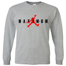 Load image into Gallery viewer, DEADPOOL JORDAN JUMPMAN MAXIMUM EFFORT LONG SLEEVE T-SHIRT / PERFORMANCE T-SHIRT