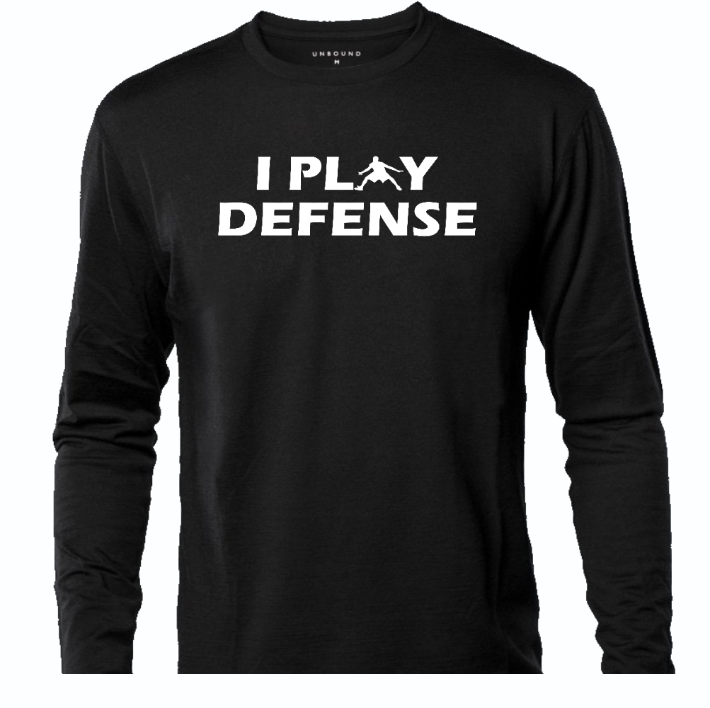 I PLAY DEFENSE LONG SLEEVE T-SHIRT ALL COLORS