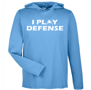 I PLAY DEFENSE SLIM FIT PERFORMANCE WORKOUT HOODIE All Colors
