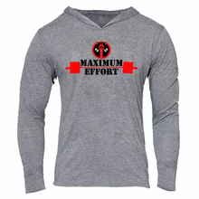 Load image into Gallery viewer, DEADPOOL  MAXIMUM EFFORT SLIM FIT PERFORMANCE WORKOUT HOODIE