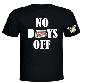 No Days Off Short Black Tee
