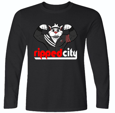 Ripped City Long Sleeve T-Shirt - Portland Trailblazers