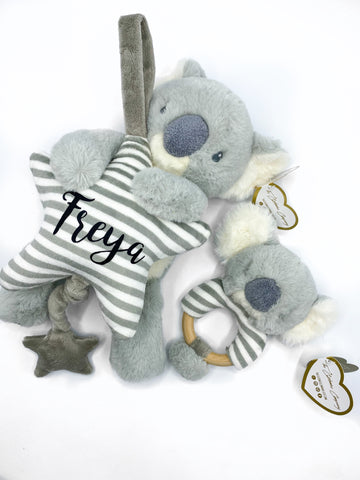 Musical Koala Toy for New Baby Personalised