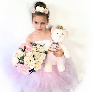 Luxury Classic Flower Girl Cat Soft Toy