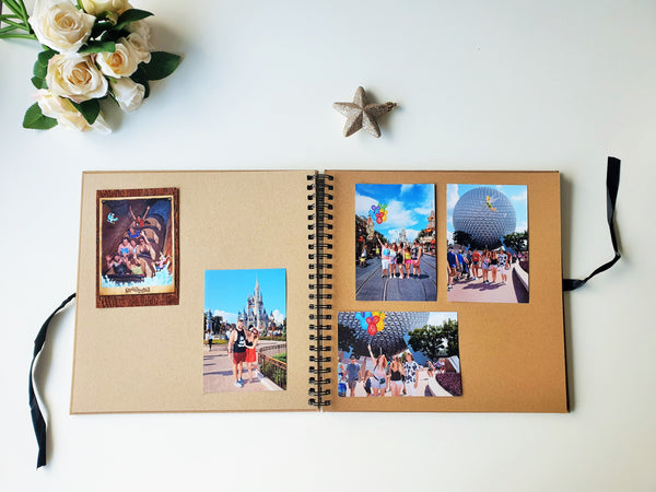 World Adventures Brown Scrapbook