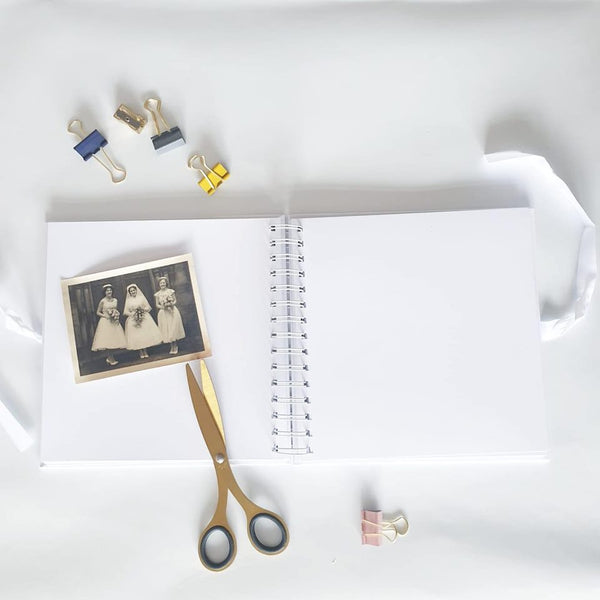 Our Engagement White Scrapbook