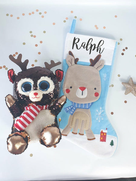The Christmas Collection Reindeer Stocking & Soft Toy