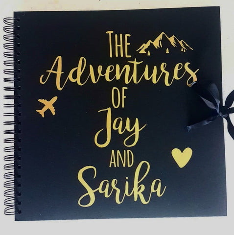 Couples Adventure Black Scrapbook