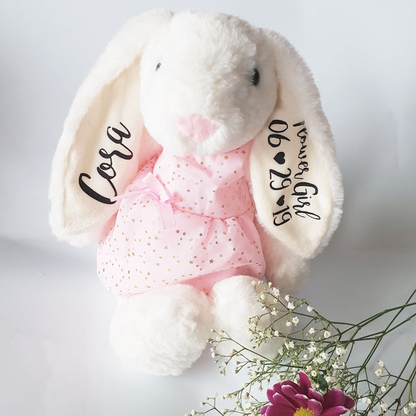 Bridesmaid Large White Bunny with Pink Nose