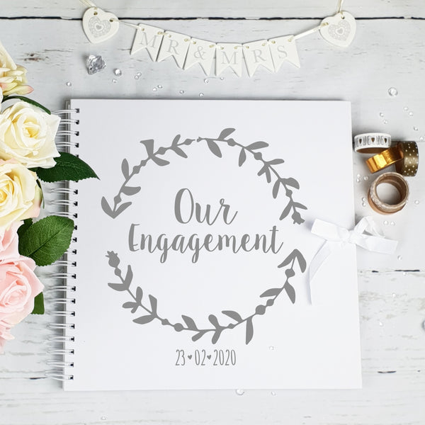 Our Engagement Ivory Scrapbook