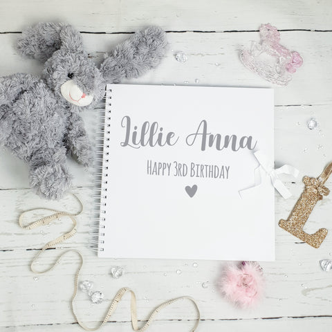 Birthday White Scrapbook