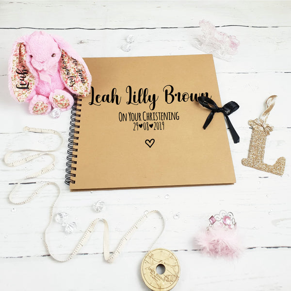 On Your Christening Brown Scrapbook
