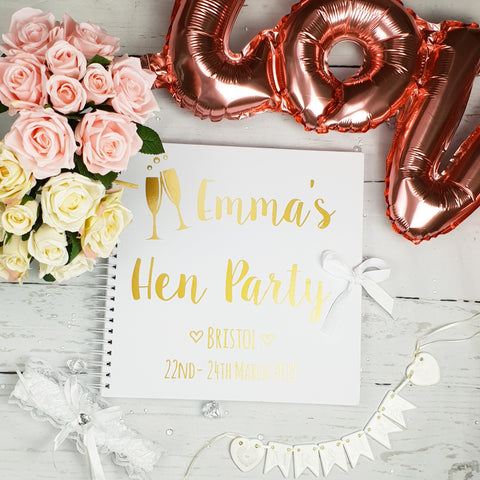 Hen Party White Scrapbook