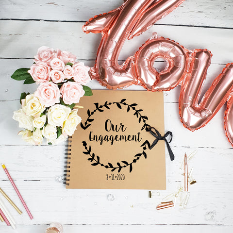 Our Engagement Brown Scrapbook