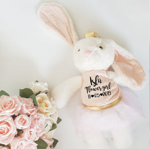 Luxury Classic Flower Girl Bunny Soft Toy