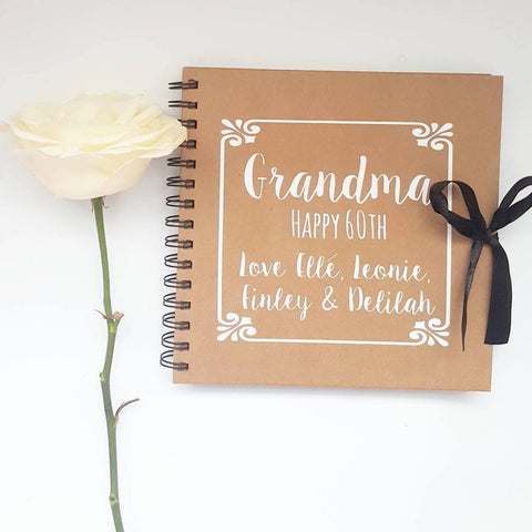 Grandma, Happy Birthday White Scrapbook