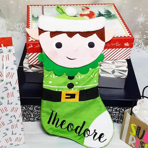The Christmas Collection 3D Elf Stocking