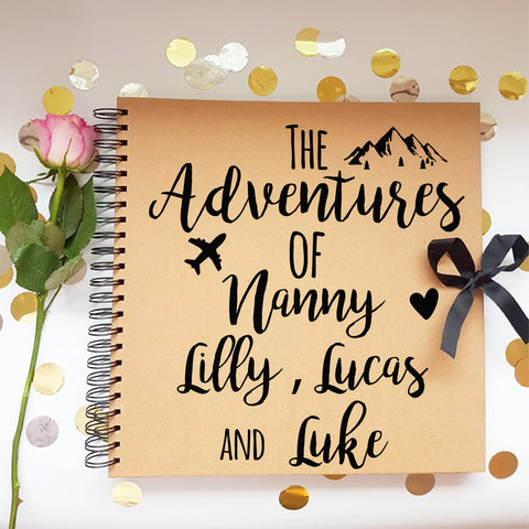 The Adventure's Of Nanny & , Brown Scrapbook