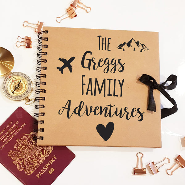 The Family Adventures Brown Scrapbook