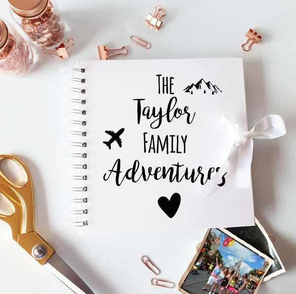 The Family Adventures White Scrapbook