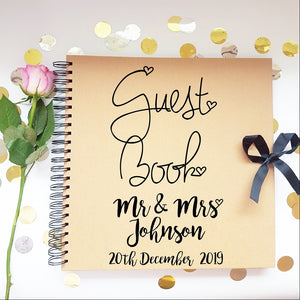 Mr & Mrs Brown Guestbook
