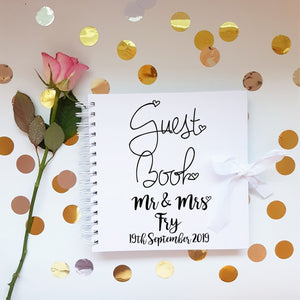 Mr & Mrs White Guestbook