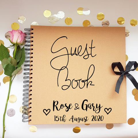 Guestbook Ivory Book