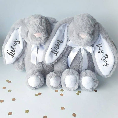 Grey With White Ears 10 Inch Page Boy Bunny Rabbit