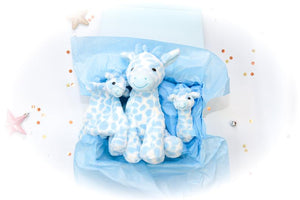 The Baby Giraffe Gift Set - Blue