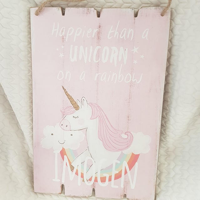 Magical Personalised Unicorn Wooden Sign