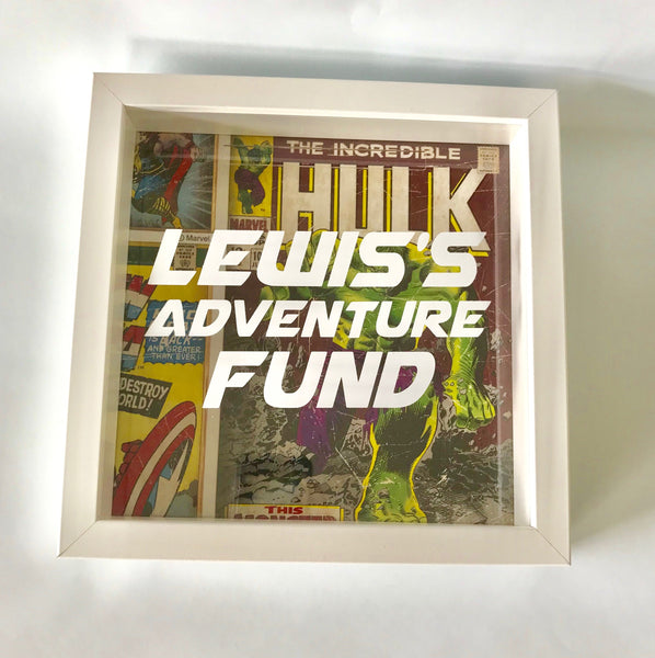 Lewis's Adventure Fund Comic Money Box