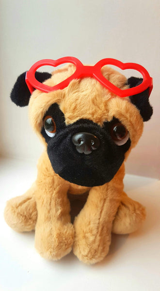 Love Band Pug Cuddly Soft Toy
