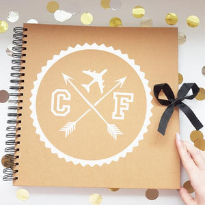 Travel Compass Brown Scrapbook
