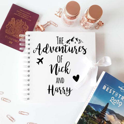 The Adventures White Scrapbook