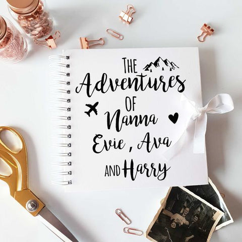 The Adventure's Of Nanny & , White Scrapbook
