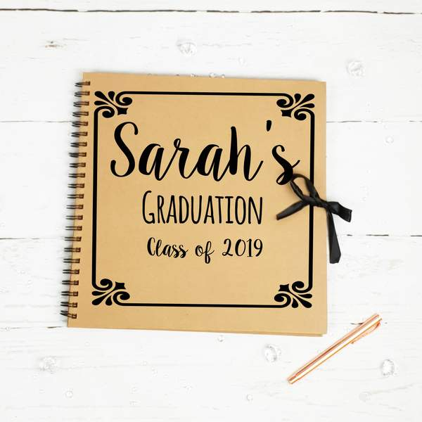 Graduation, Class of, Brown Scrapbook