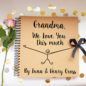 Grandma We Love You This Much Brown Scrapbook