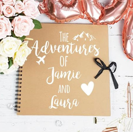 Couples Adventure Brown Scrapbook
