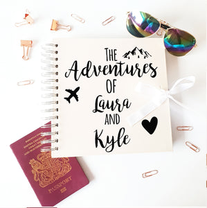 Couples Adventure Ivory Scrapbook