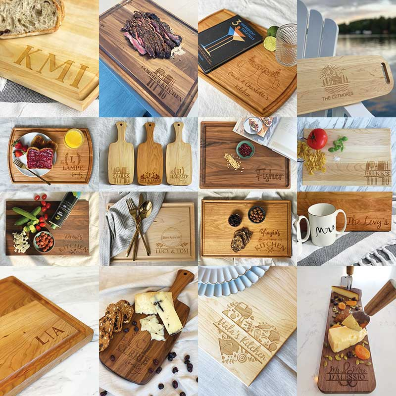 personalized charcuterie boards