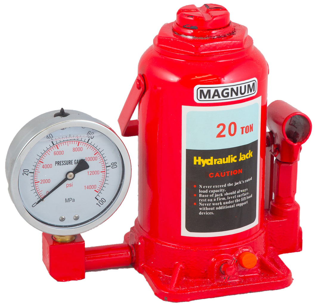 EX DEMONSTRATION MAGNUM 20 TON BOTTLE JACK WITH GAUGE