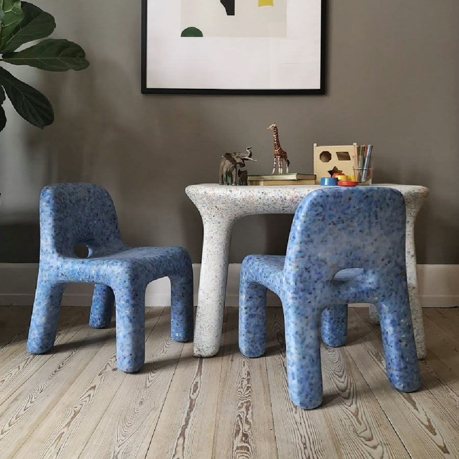 ecoBirdy Charlie Chair Sky Luisa Table Party Set Azure Rasmus Schou