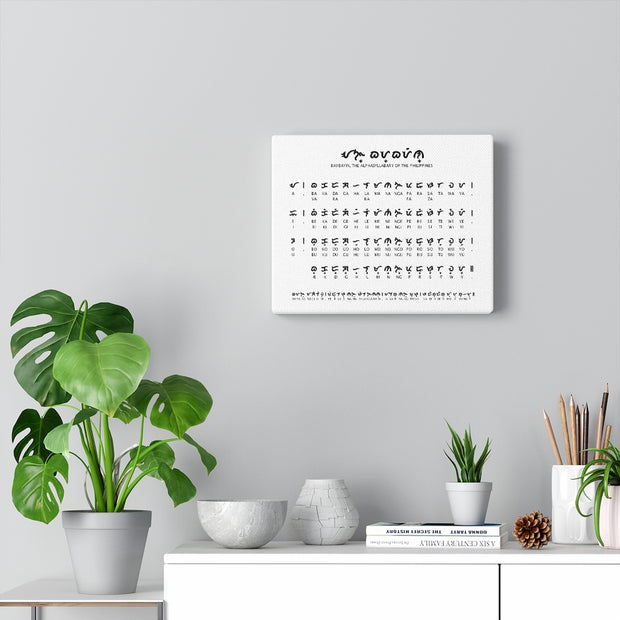 Decorate Your Home or Office Baybayin Chart Canvas
