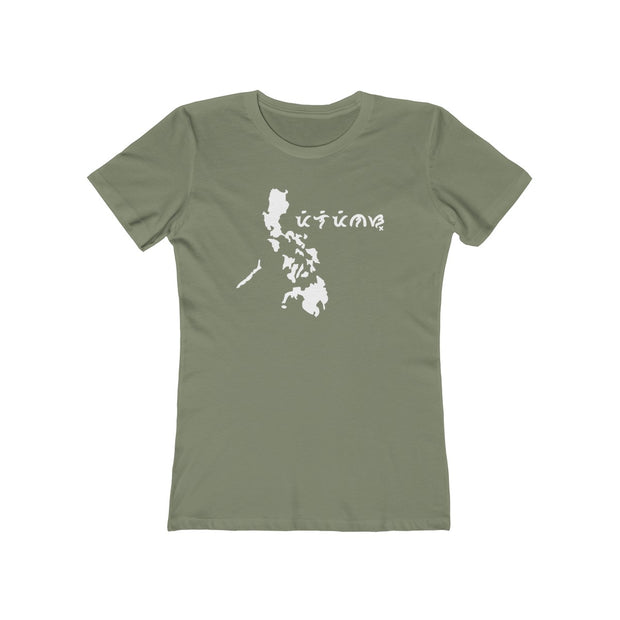 "The Philippines with ""Pilipinas"" written in Baybayin - Women's Cut T-Shirt"