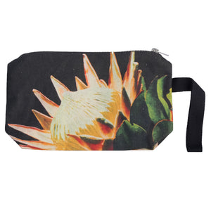 Black Protea clutch bag