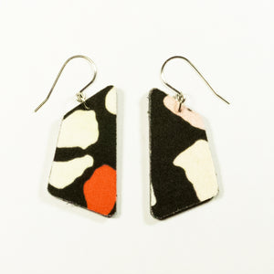 In the Pink Terrazzo print earrings