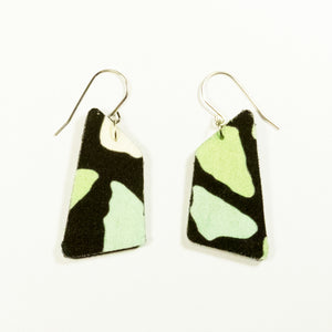 Serene Green Terrazzo print earrings